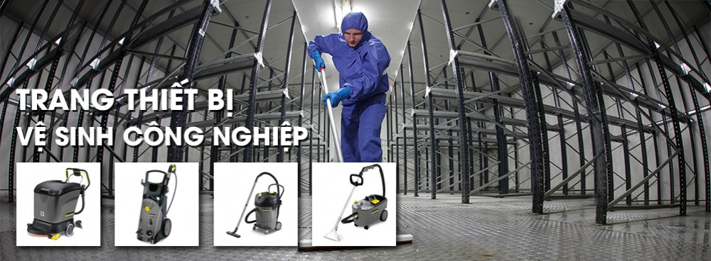 Trang thiết bị vệ sinh công nghiệp
